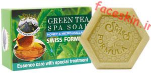 خرید صابون چای سبز و عسل سوئیس فرمولا